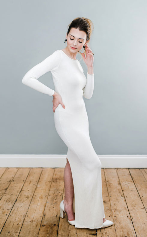CoopCouture boatneck wedding dress