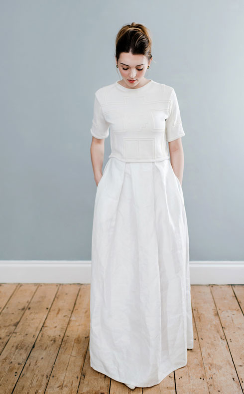 CoopCouture wedding top and skirt