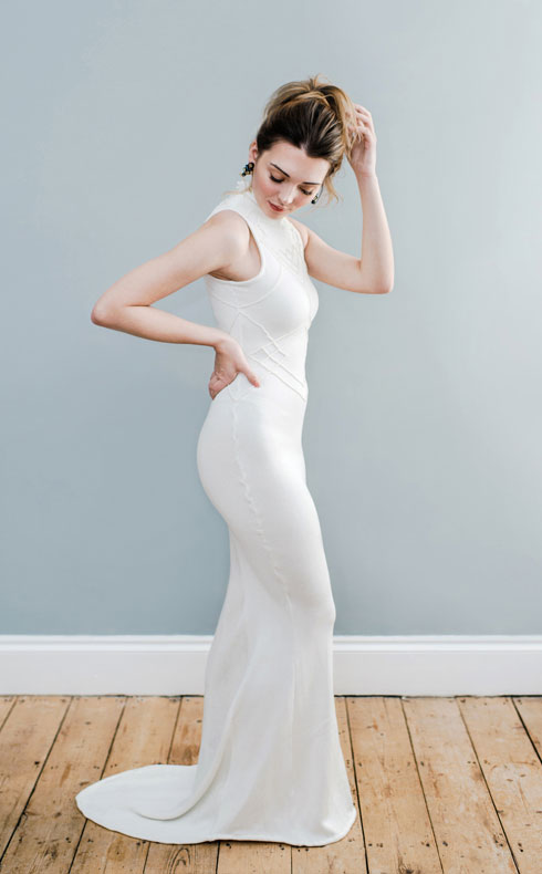 CoopCouture fishtail wedding dress
