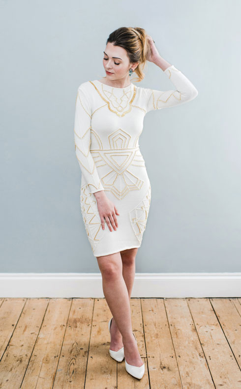 CoopCouture embroidered wedding dress